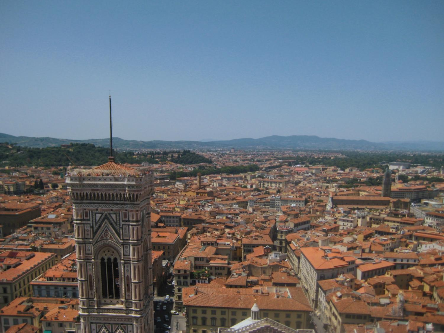 A view of Florence rooftops in July 2018.
