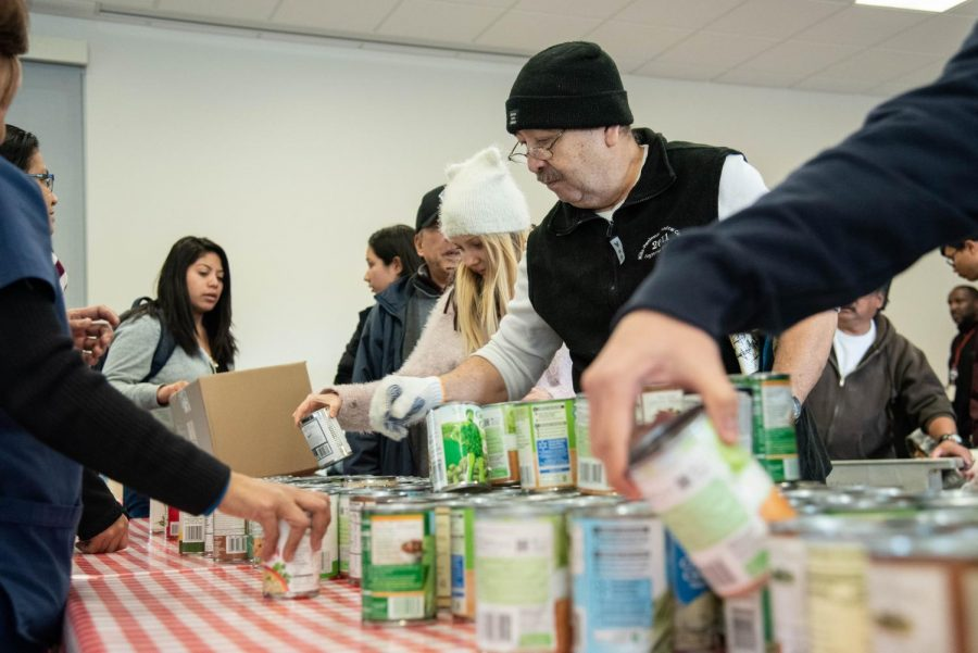 San Bruno resident choos canned food on March 7
