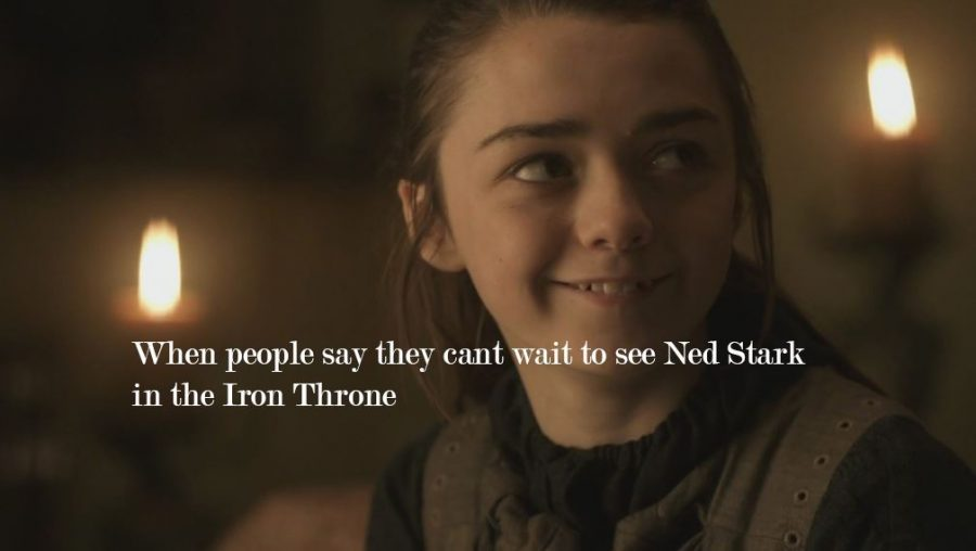 arya stark game of thrones meme