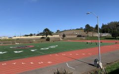 Despite the shelter-in-place orders, both the track and field on the Skyline College campus is being utilized by many on Mon. March 30.