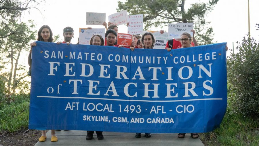 AFT members (Katharine Harer) and supporters marching to the district board meeting in protest for fair pay.   February 26, 2020