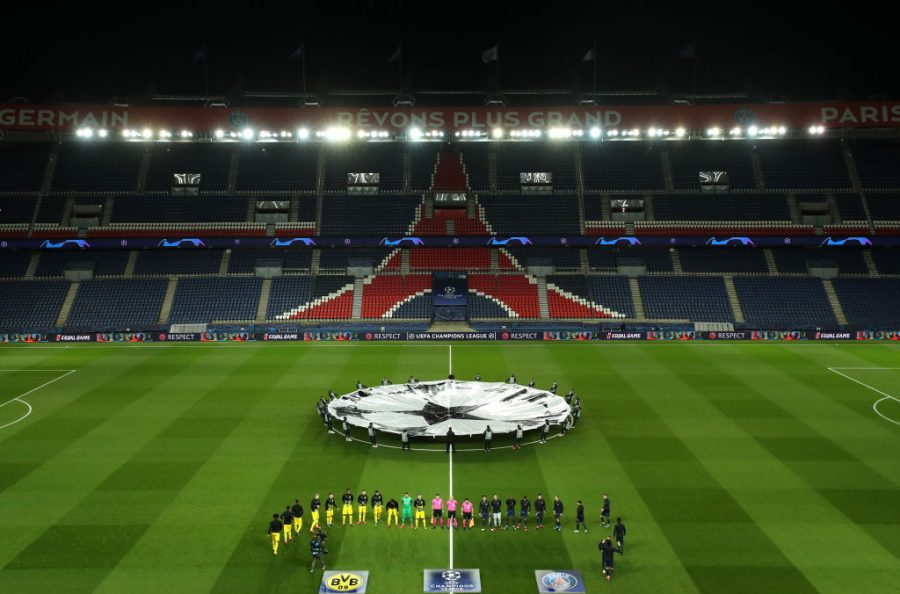 Parc de Princes, home of Paris Saint-Germain, held a UEFA Champions League game without fans on Wed. March 11