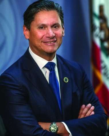 Eloy Ortiz Oakley poses for a photo after he was named chancellor of the California Community Colleges on Monday, July 18, 2016, in Sacramento, Calif.