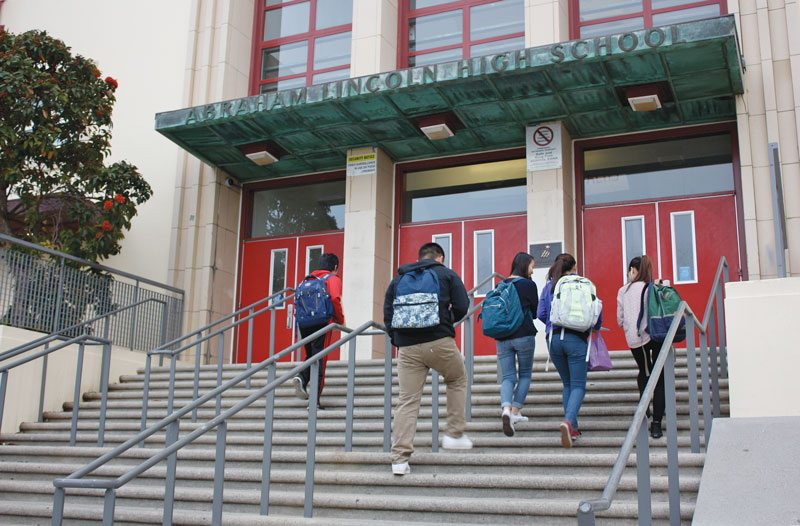 Abraham Lincoln High School in the Sunset District is among the schools that was deemed to meet the advisory committee