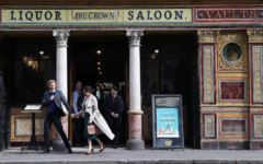 Prince Harry and Ms. Markle visit Belfast's Crown Liquor Saloon