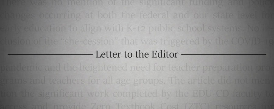 Letter To the Editor: Early Childhood Education: an overlooked program