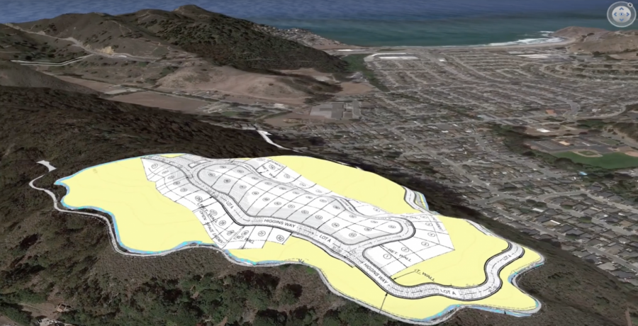 The development project dubbed Linda Mar Woods includes 125 units of residential housing and roughly a combined 58 acres.