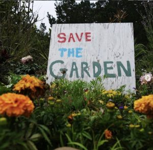 Daly City residents create a sign to save the local garden